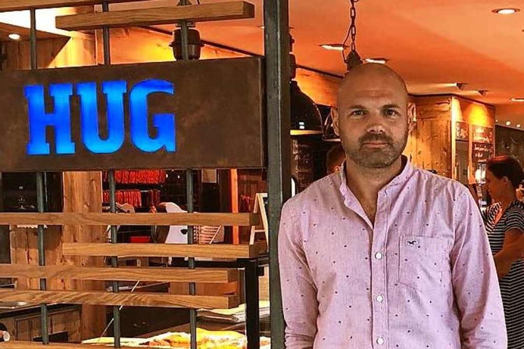 Christoph Hug freut sich über die Aner... als Handwerksunternehmen des Jahres.   | Foto: Firma
