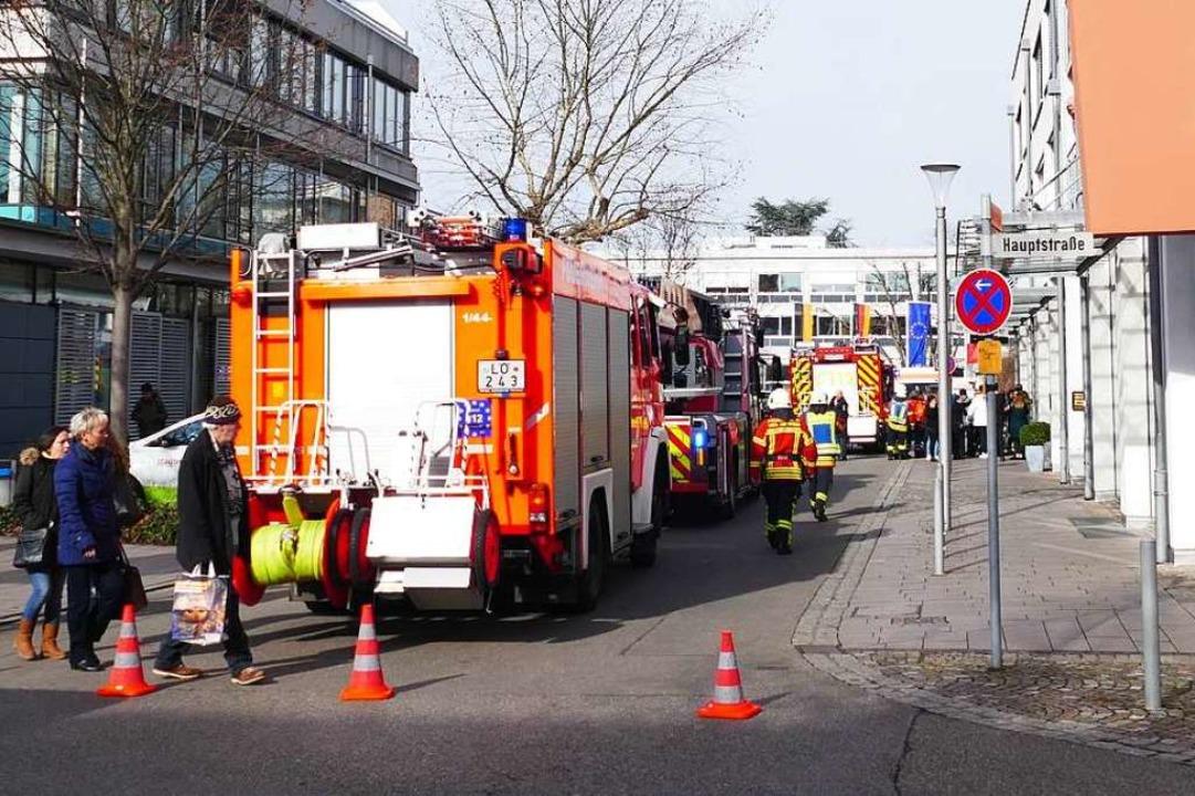 Einsatz in der Schillerstraße in Weil am Rhein    Foto: Ulrich Senf