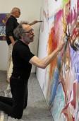 Zwei Maler machen gemeinsame Sache