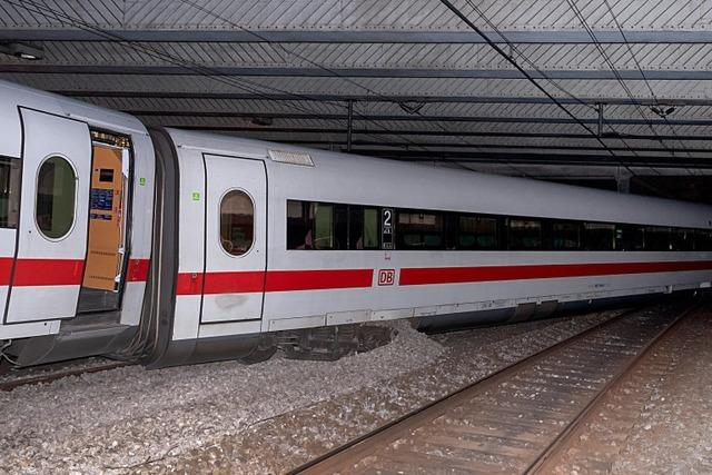 Nach ICE-Entgleisung: Streckenabschnitt in Basel voraussichtlich bis Dienstag gesperrt
