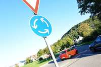 Unfallflucht im Kreisverkehr