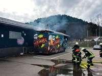 In Waldkirch ist ein Foodtruck in Brand geraten