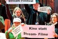Warum ein Neustädter Kinobetreiber gegen Streamingdienste demonstriert