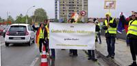 Zwei Demos auf der Europabrücke