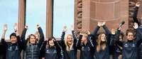Der lange Weg der SC-Frauen auf den Freiburger Rathaus-Balkon