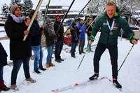 Biathlon-Vizeweltmeister Roman Rees wird in Hofsgrund gefeiert