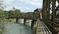 Historische Bahnbrücke wird saniert