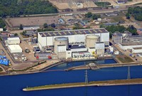 Die Region von oben: Atomkraftwerk Fessenheim