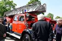 Bei einem Hock präsentierten sich die Feuerwehrabteilungen Herdern und Zähringen