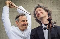 """Das Duo Calva präsentiert sein Programm """"Zwei Celli für ein Halleluja"""" im Fricker Kornhauskeller."""