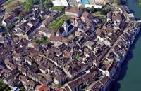 Die Region von oben: Altstadt von Rheinfelden/Schweiz
