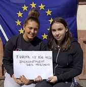 Werbung für Europa und für den Gang an die Urnen