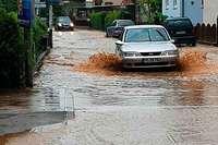 Erneut stand das Wasser in Hochdorf auf den Straßen