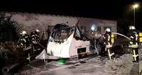 In Mahlberg ist in der Nacht ein Wohnwagen abgebrannt