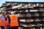 Fotos: Maschinen und Menschen auf der Baustelle der Breisgau-S-Bahn