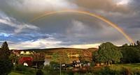 Spektralfarben am Himmel