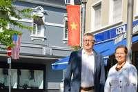 In Rheinfelden wehen die Fahnen von 60 Nationen, die zur Stadt gehören
