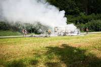 Brennendes Wohnmobil sorgte im Höllental für einstündige Vollsperrung