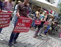 Klima-Demo vor der CDU-Geschäftsstelle