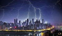 Blitze über China...