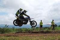 Rasante Fahrten auf schlammigem Grund gab es beim internationalen ADAC-Motocross in Schopfheim