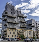 38 Meter hoch: Das höchste Holzgebäude Frankreichs ist fertig