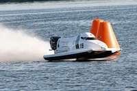 Als Hagins Propeller im See verschwindet