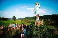 Melania Trump wird in Slowenien zum Kunstobjekt