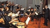 Young Lions Big Bandund Kids Big Band spielen in Bad Krozingen