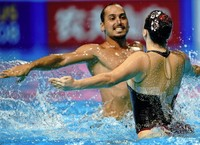 Mixed-Wettbewerb im Synchronschwimmen