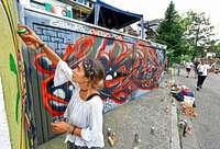 """Beim """"Summer Graffiti Jam"""" wurde ordentlich Farbe in den Alltag gebracht"""