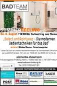 Der Weg zum Wohlfühlbad: Neue Badtechniken in der Elements-Ausstellung