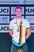 Der Südbadener Dominik Oswald vom MSC Münstertal gewinnt die deutsche Meisterschaft im Trial