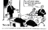 Der deutsche Außenminister pünktlich auf einer internationalen Konferenz!