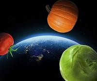 Frisches Gemüse im All