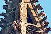 Kletterer am Münsterturm: Herr, schmeiß Hirn vom Himmel
