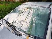 In Lahr ist ein Auto mit Eiern und Mehl beschmiert worden