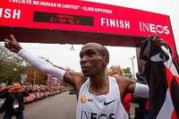 Kipchoge läuft als erster Mensch den Marathon unter zwei Stunden