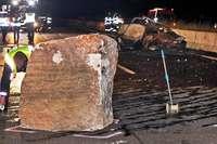"""Geologe zum Fels-Unfall auf der A81: """"Das hat sich nicht angekündigt"""""""