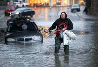 Eine Tote nach Überflutungen