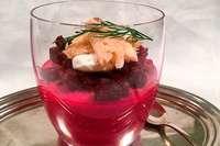 Forelle mit Rote-Beete-Mousse – die entspannte Weihnachtsvorspeise