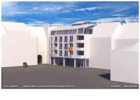 Auf dem Marktplatz ist ein Wohn- und Geschäftshaus geplant