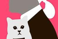 Die Katze von Modeschöpfer Karl Lagerfeld wird zur Werbeikone