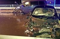 Sechs Verletzte bei Unfall