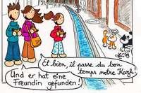 Aurélie Guetz hat einen deutsch-französischen Comic veröffentlicht über Katzen aus Freiburg