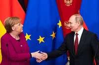 Merkel hofft auf Putins Einfluss in Nahost