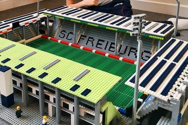 11-jähriger Brite baut deutsche Fußballstadien mit Lego nach – und kommt nach Freiburg