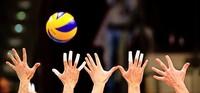 Volleyballer mit Heimdoppel