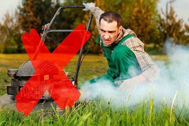 Stinkende Verbrennungsmotoren werden auch im Garten seltener