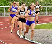 Valerie Koppler läuft auf Platz eins der U-18-Bestenliste